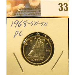 1968 Gem BU .500 fine Canada Silver Dime.