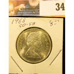 1968 Gem BU .500 fine Canada Silver Quarter