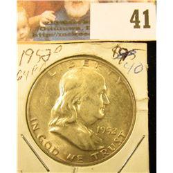 1952 D Gem BU FBL Franklin Half Dollar.