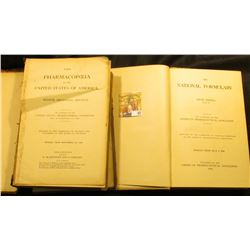 "Hardbound book ""The National Formulary"" Fifth Edition, 1926. Originally owned by ""Charles F. Griffin"