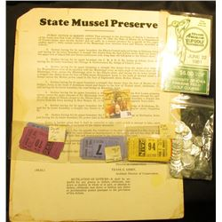 "Heavy Cardboard sign ""State Mussel Preserve…State of Illinois"" dated twenty-six day of June, A.D. 19"