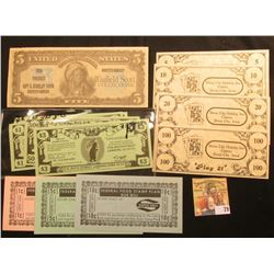 "4-Piece Set of ""Sioux City Holiday Inn Casino, Sioux City, Iowa"" Currency; 4-Piece Set of ""Barr's Ne"
