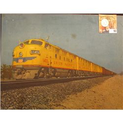 "8 1/2"" x 12"" Color Photograph of Union Pacific Railroad Train; & 1788 Spade Half Guinea Card Counter"