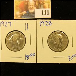 1927 AND 1928 STANDING LIBERTY QUARTERS