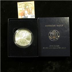 2008 UNCIRCULATED AMERICAN SILVER EAGLE WITH BOX