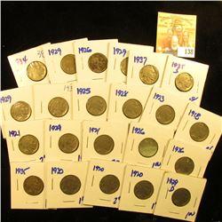 BUFFALO NICKEL LOT INCLUDES 1926, 1929-D, 1920, 1920, 1930, 1935, 1934,1935-S, 1928, 1937, 1929, 193