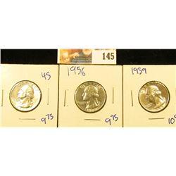 SHARP 1959, 1956, AND 1955 WASHINGTON QUARTERS