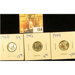 UPGRADE MERCURY DIME LOT INCLUDES 1941-D, 1942, AND 1944