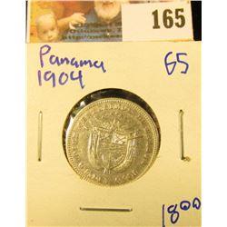 SILVER PANAMANIAN TEN CENTESIMOS COIN DATED 1904