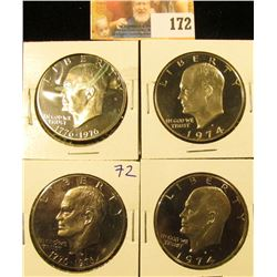 PROOF IKE DOLLAR LOT INLUDES 1974-S, 1976-S, 1974-S, 1976-S,