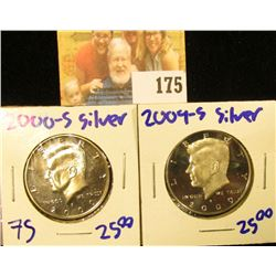 2000-S AND 2009-S SILVER KENNEDY HALF DOLLARS
