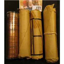 2 1957, 1958, AND 1959 BU CANADIAN PENNY ROLLS