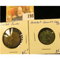 2 ROMAN BRONZE COINS