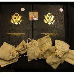 10 MINI BAGS OF MEMORIAL PENNIES PLUS SETS OF NICKELS ON INFO CARDS.