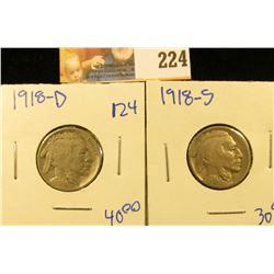 1918-D AND 1918-S BUFFALO NICKELS