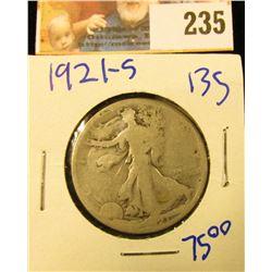 KEY DATE 1921-S WALKING LIBERTY HALF DOLLAR