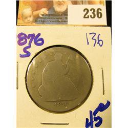 1876-S SEATED HALF DOLLAR
