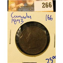 SHARP 1893 CANADIAN LARGE CENT