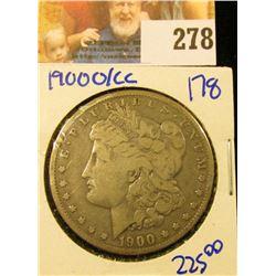 1900-O/CC OVERDATE MORGAN SILVER DOLLAR