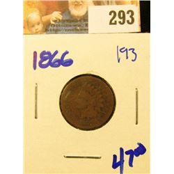 1866 SEMI KEY DATE INDIAN HEAD PENNY