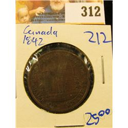 1842 CANADIAN BANK OF MONTREAL HALF PENNY BANK TOKEN