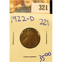 1922-D SEMI KEY DATE WHEAT PENNY