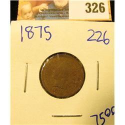 1875 SEMI KEY DATE INDIAN HEAD PENNY