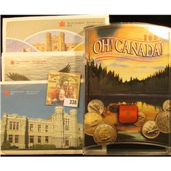 2000 CANADIAN UNCIRCULATED SET PLUS 1988, 1980, AND 1987 MINT SETS