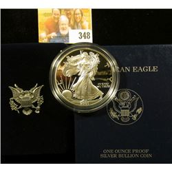 2001-W PROOF AMERICAN SILVER EAGLE WITH BOX AND COA
