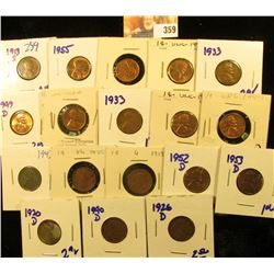 PENNY LOT INCLUDES SEMI KEY DATE 1913-S, 1955, 1946, 1949-D, 1933, 1950-D, 1926-D, 1940-D. 1920-D, 1