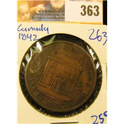 1842 BANK OF MONTREAL OPE PENNY BANK TOKEN