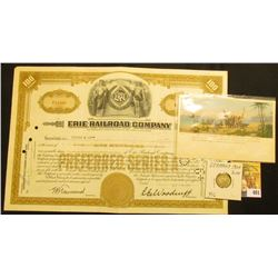 "Unissued Preferred Stock Certificate for ""Gale Manufacturing Company Albion, Michigan Makers of Agri"