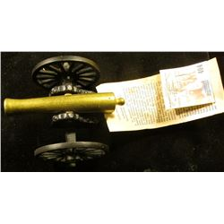 "Miniature Civil War ""12-Pounder Light Gun Known as the ""Napoleon""""., 4"" x 7.5""."