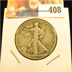 1933 S Walking Liberty Half Dollar, VG.