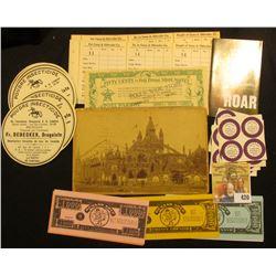 "Fairbury, Nebraska ""Fifty Cents in Poll Parrot Shoe Money"" 1920-30 era; several unused Stickers ""I P"
