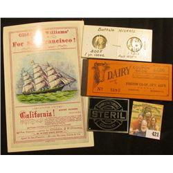 "Small flyer for ""Glidden & Williams' Line For San Francisco Clipper Ship California!…: 1936 P & 2005"
