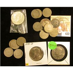 "(5) 1897 & (12) 1900 U.S. Liberty ""V"" Nickels, all circulated; & 1967 P (Silver), 71 D, & 89 D Kenne"