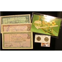 "(3) Different ""National Provincial Bank Limited 15 Bishopgate, London"" Traveller's Cheques 5, 10, &"