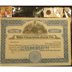 "Unissued Stock Certificate ""The Cracker Jack Co. Incorporated under the Laws of the State of Illinoi"