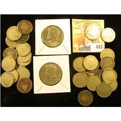 "(14) 1905 & (16) 1906 U.S. Liberty ""V"" Nickels, all circulated; 1976 P & D Bicentennial Kennedy Half"
