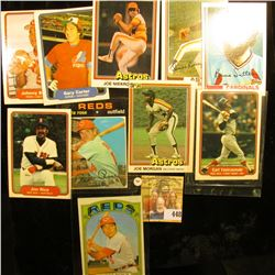 Group of (10) Old Baseball Cards dating back forty years and including several great players, includ