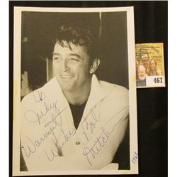 "5"" x 7"" Black & White Autographed Photo ""To Judy Warmest Wishes Bob Mitchum"" photo of Robert Mitchum"