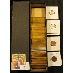 "9"" x 2"" x 2"" Coin Stock Box full of High grade Lincoln Cents dating 1969-74."
