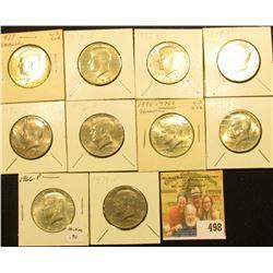 1966 P, 71 P, D, 72 P, D, 74 P, 76 P, D, S (Silver), & 77 P Kennedy Half Dollars, all BU.