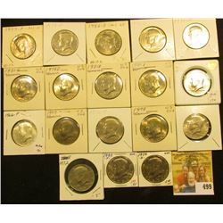 1966 P, 71 P, D, 72 P, D, 74 P, 76 P, D, 77 P, 78P, D, 79 P, D, 80 P, D, 81D, 82 P, & D Kennedy Half