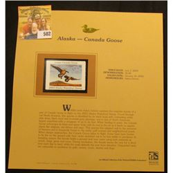 2003 Alaska Waterfowl $5.00 Stamp, mint, unused with original literature mounted in a plastic page.
