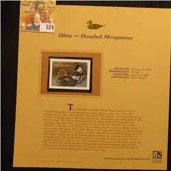 2003 Ohio Waterfowl $11.00 Stamp, mint, unused with original literature mounted in a plastic page. D
