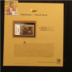2003 Oklahoma Waterfowl $10.00 Stamp, mint, unused with original literature mounted in a plastic pag