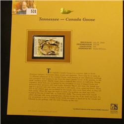 2003 Tennessee Waterfowl $10.00 Stamp, mint, unused with original literature mounted in a plastic pa