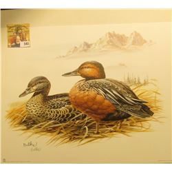 2000 Fleetwood hand autographed print of a pair of Ducks (I thought I was good, but I am not even go
